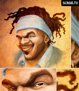 Digital Painting of Singer/Rapper Dany Labana of the band Labana by SCROB