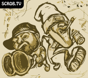 Sketch for drawing of Redman and Method Man