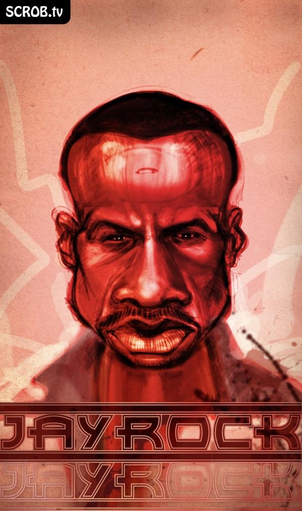 Jay Rock red bloody portrait Juggalo Art