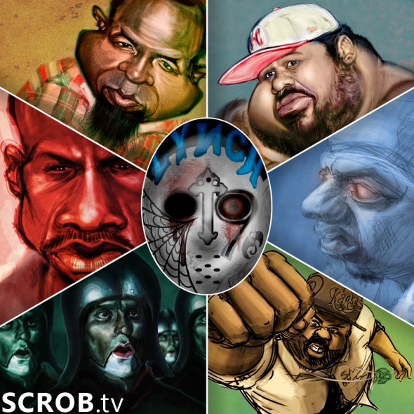 Strange Music Tech N9ne, Brotha Lynch Hung, Jay Rock artwork collage