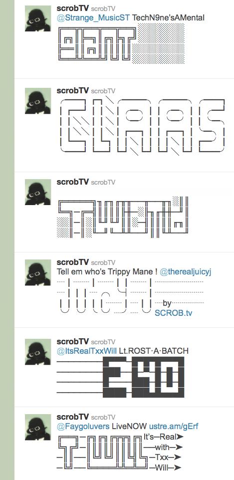Twitter Artwork by SCROB ASCII