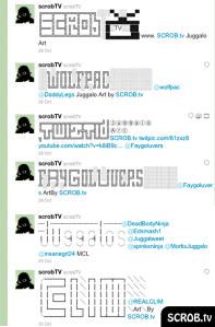 Juggalo Art on Twitter of SCROB.TV Wolfpac, Twiztid, Faygoluvers, Juggalos, C-LIM