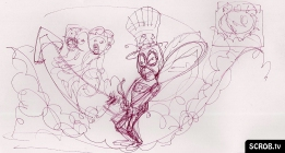 Original Sketch Art for my Blowfly New Year's Eve drawing
